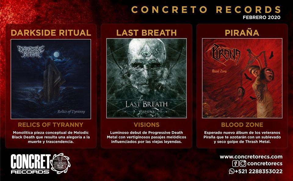 Próximas ediciones 2020 [Piraña, Last Breath y Darkside Ritual].