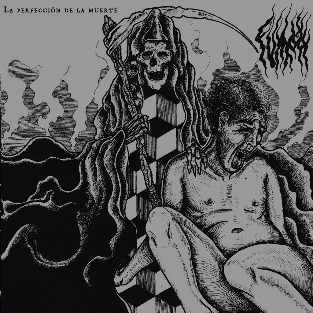 """Portada del disco debut """"La Perfección de la Muerte""""."""