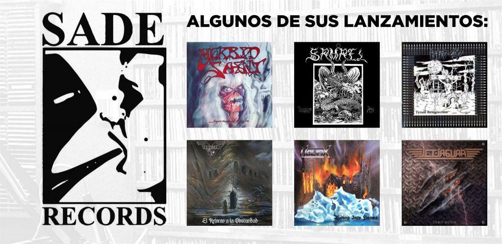Algunos lanzamientos de Sade Records.