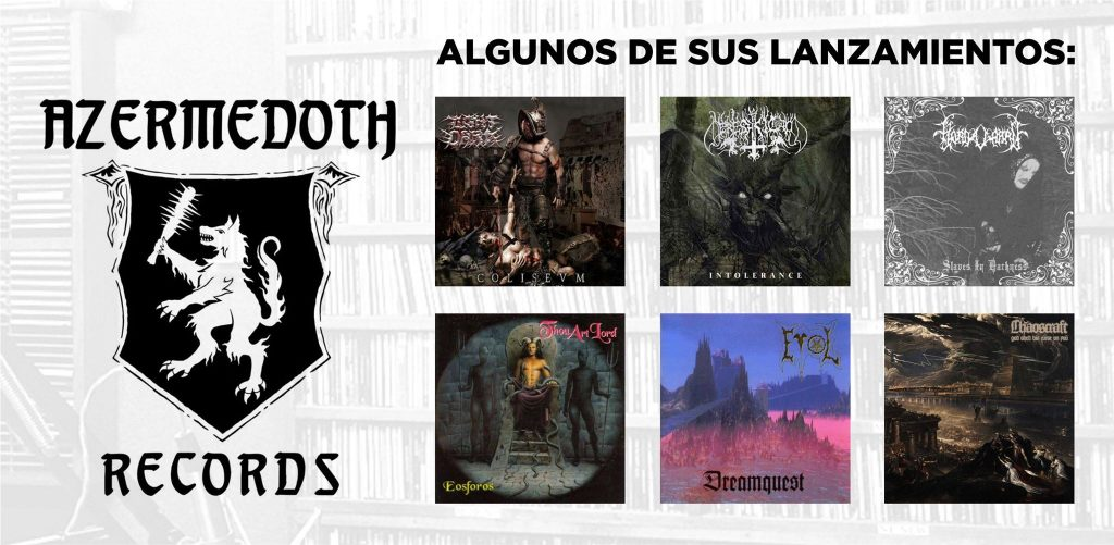 Algunos lanzamientos de Azermedoth Records