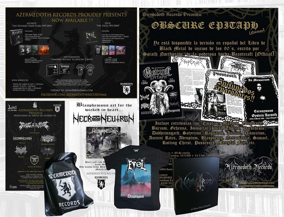 Productos de Azermedoth Records