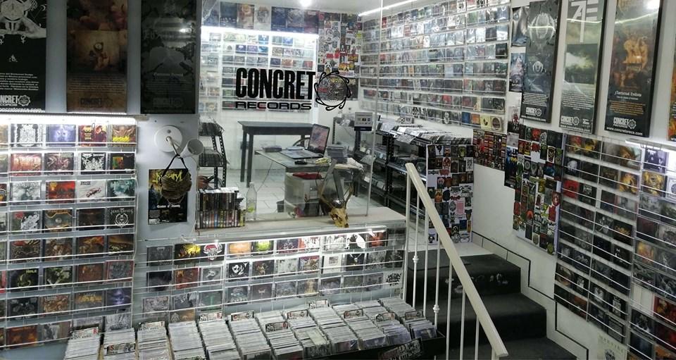 Tienda física de Concreto Records