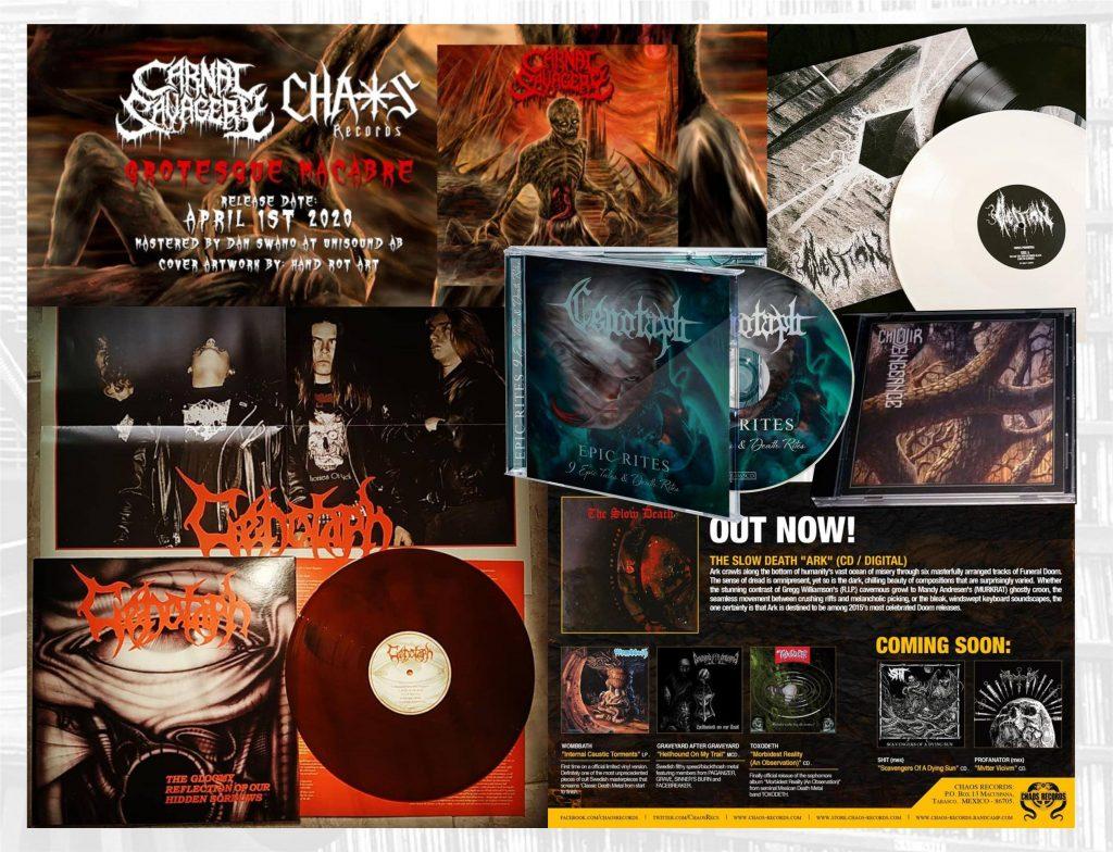 Ediciones en CD y Vinyl de Chaos Records