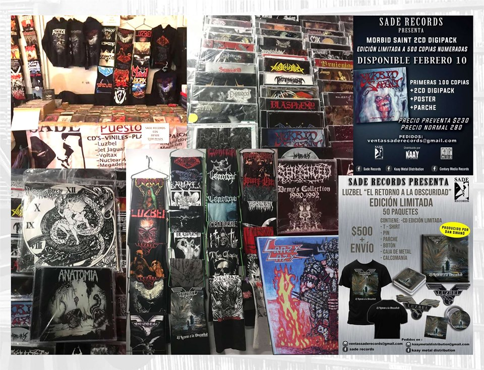 Lanzamientos y stand de Sade Records.