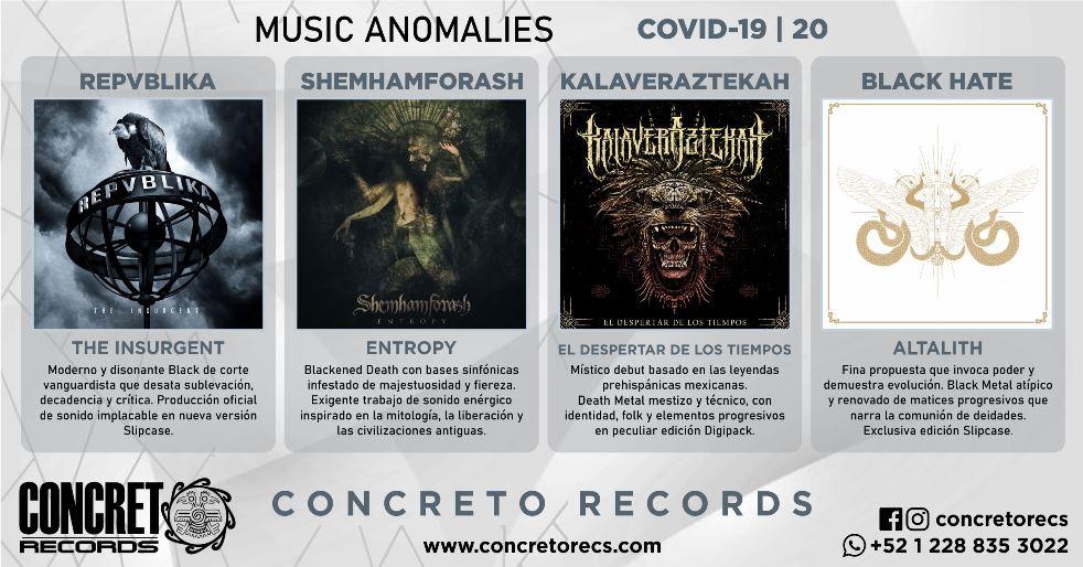 MUSIC ANOMALIES COVID-19: NUEVOS LANZAMIENTOS