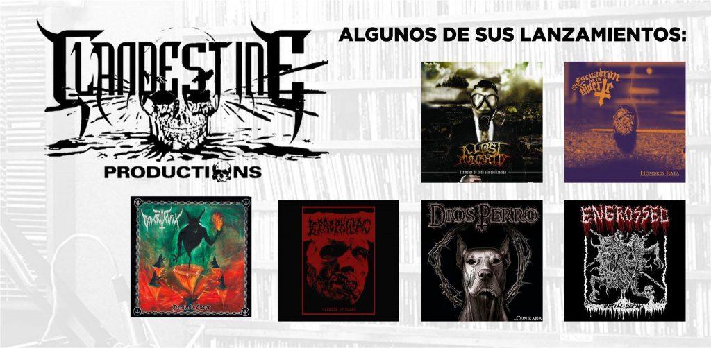 Algunos lanzamientos de Clandestine Productions