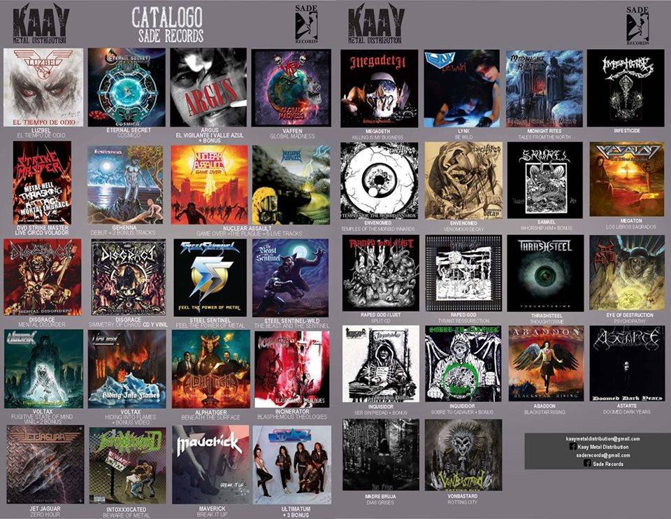 Catalogo Sade Records 2016