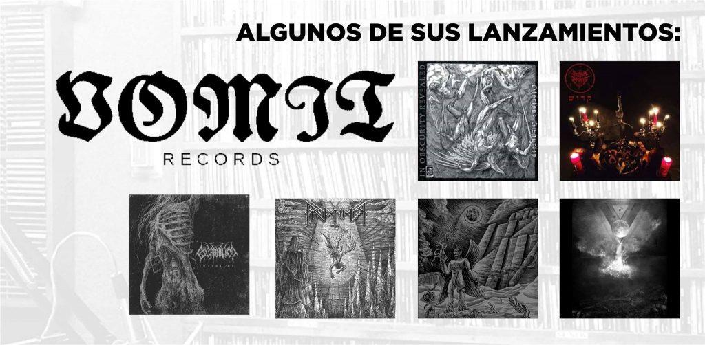 Algunos lanzamientos de Vomit Records