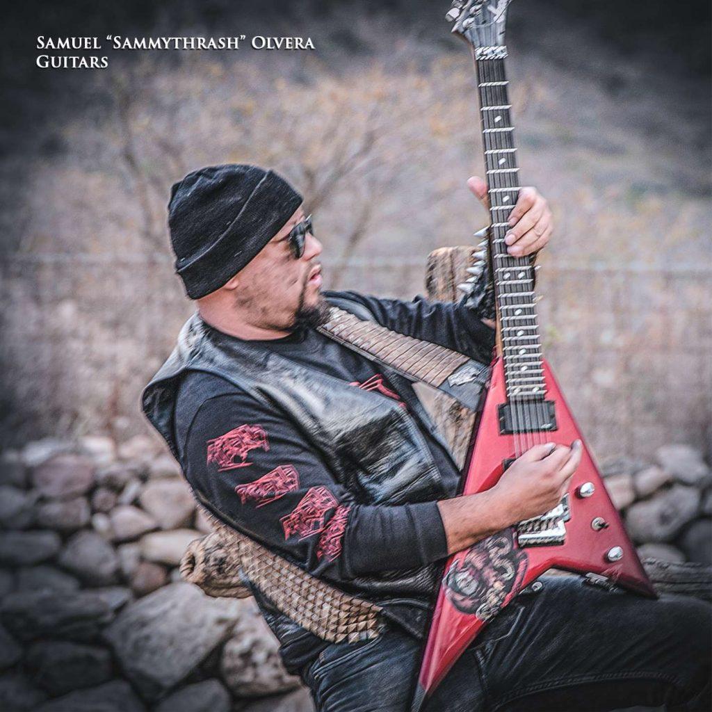 """""""SammyThrash"""", guitarrista de Piraña"""